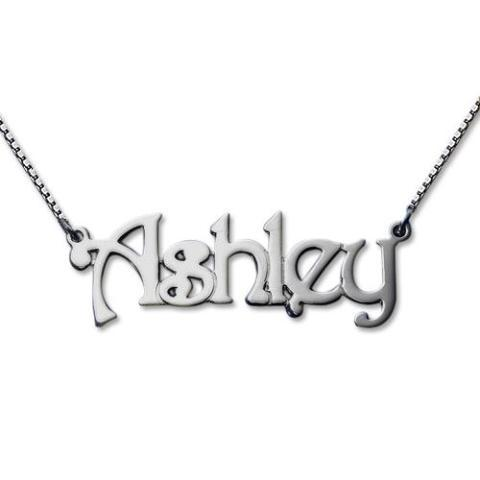 """Ashley""- Personalized Name Necklaces Adjustable Chain 16""-20"""
