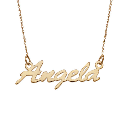 """Angela"" Personalized Script Name Necklace Adjustable Chain 16""-20"""