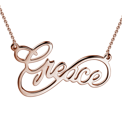 925 Sterling Silver Personalized Infinity Name Necklace