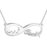 Personalized Elephant Infinity Name Necklace