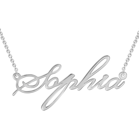"Personalized Adjustable 16""-20"" Name Necklace"