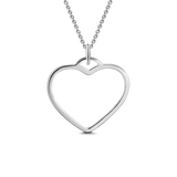 "925 Sterling silver/Copper Heart Name Necklace 18""-White Gold/Yellow Gold/Rose Gold"