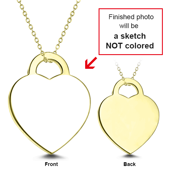 "Personalized 14K Gold Adjustable 16""-20"" Kids Engraved Photo Necklaces"