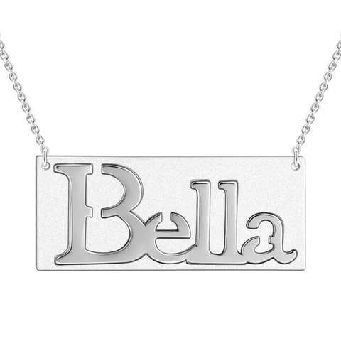 Relief Carving Name Necklace