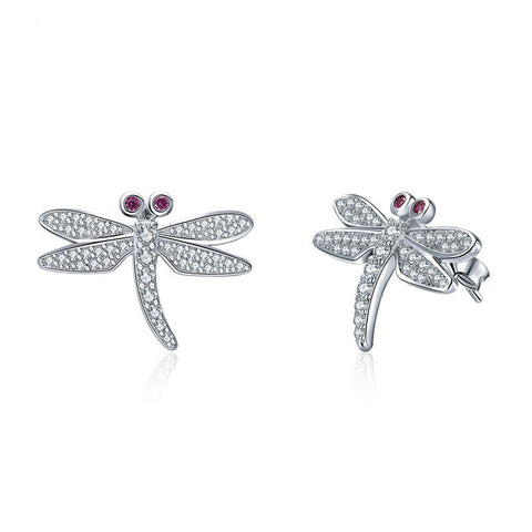 Elegant Dragonfly Stud Earrings