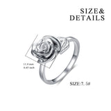 Rose Rings Opening Adjustable Husband Send Wife Gift Rings