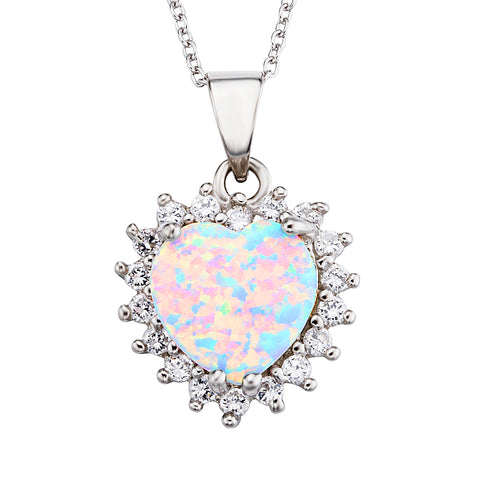 Opal Silver Necklace Heart Best Sale Nice Quality Necklace