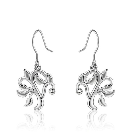 S925 sterling silver life tree earrings European and American fashion exquisite earrings earrings jewelry