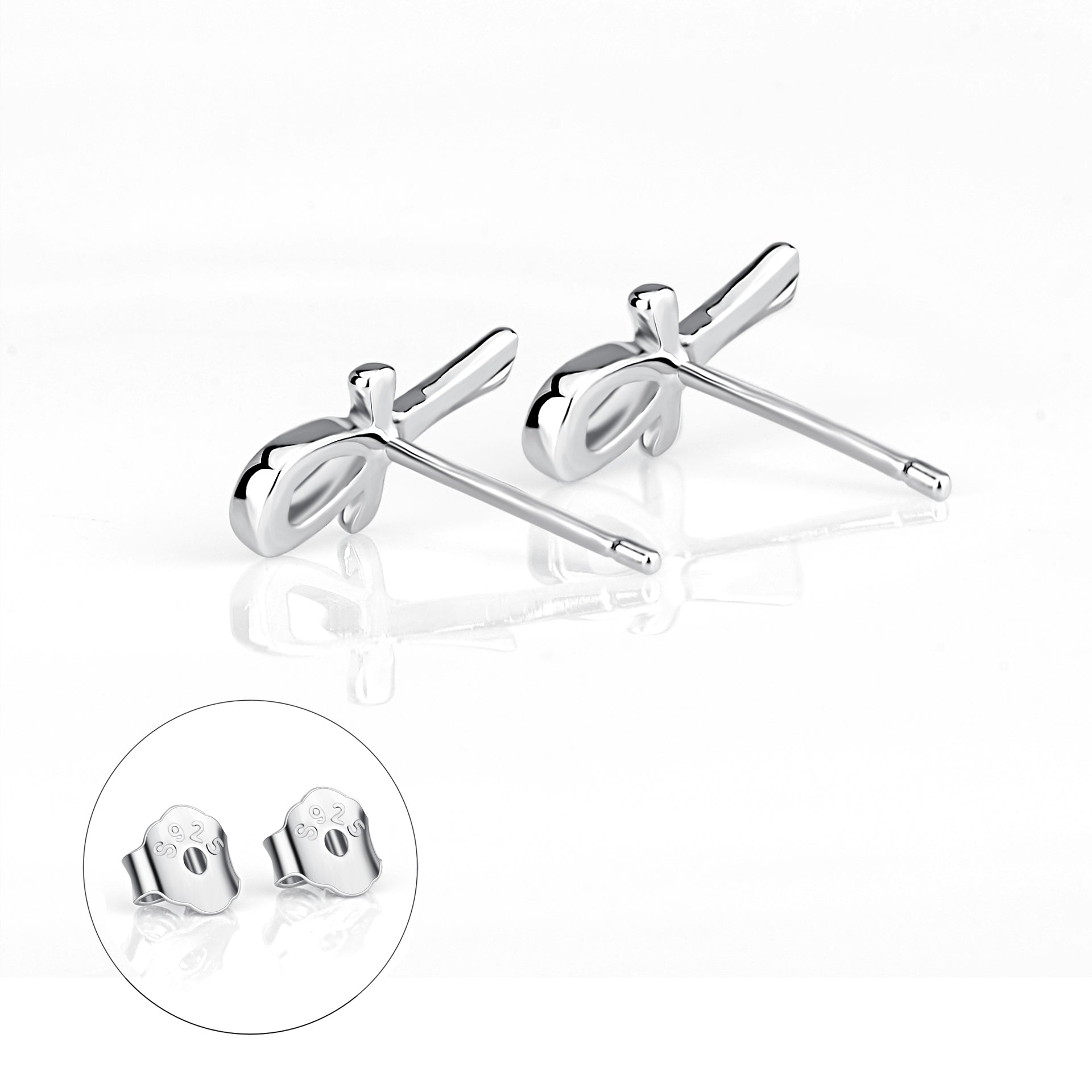 Wholesale Christmas Gift Jewelry 925 Sterling Silver Mini Cute Stud Earrings