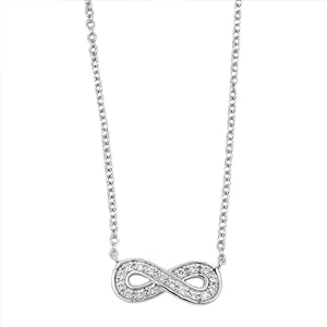 Infinity Knot Cubic Zirconia Pendant Necklace