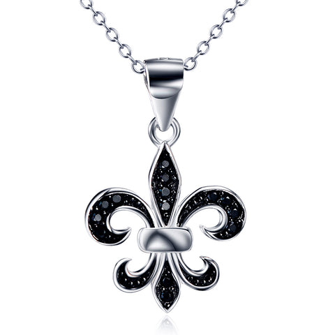 Fleur De Lis Necklace French Flower Necklace Jewellery 925 Sterling Silver