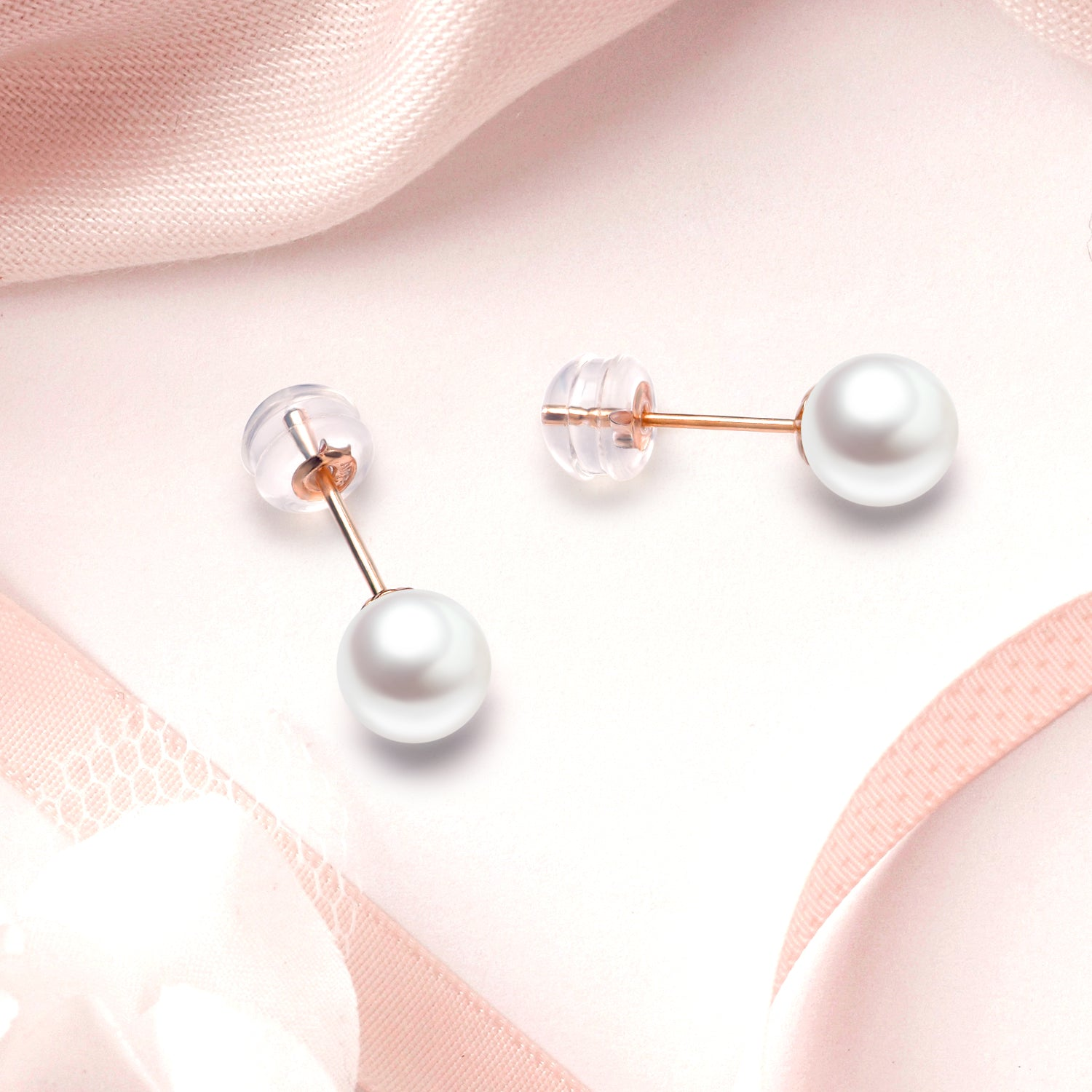 925 Sterling Silver Tiny Freshwater Pearl Earrings Ladies Jewelry