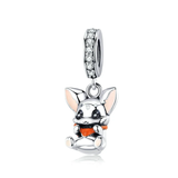 Silver  rabbit Animal Bunny Charms