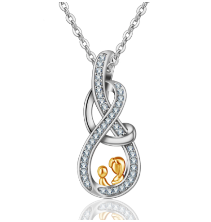 MOM & Baby Pendant Gold Necklaces