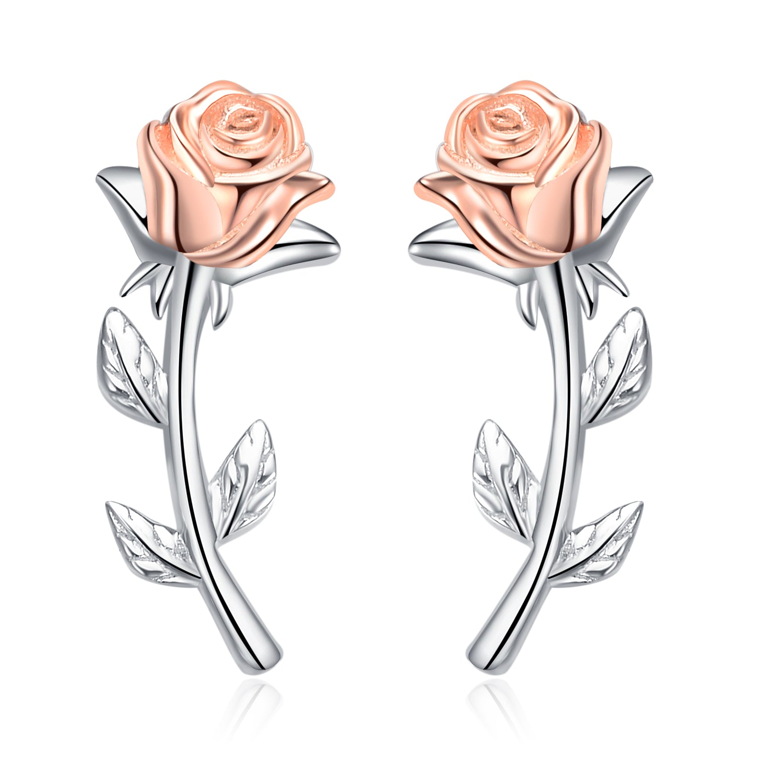 Rose Earrings China Factory Charming Jewelry Earrings Simplify Stick Stud Earrings