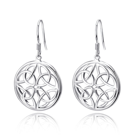 925 Sterling Silver Dangle Drop Celtic Knot Earring Design Wholesale