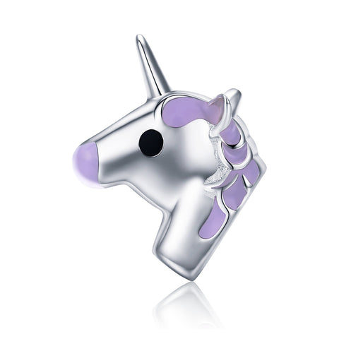 silver white gold plated Epoxy unicorn charms