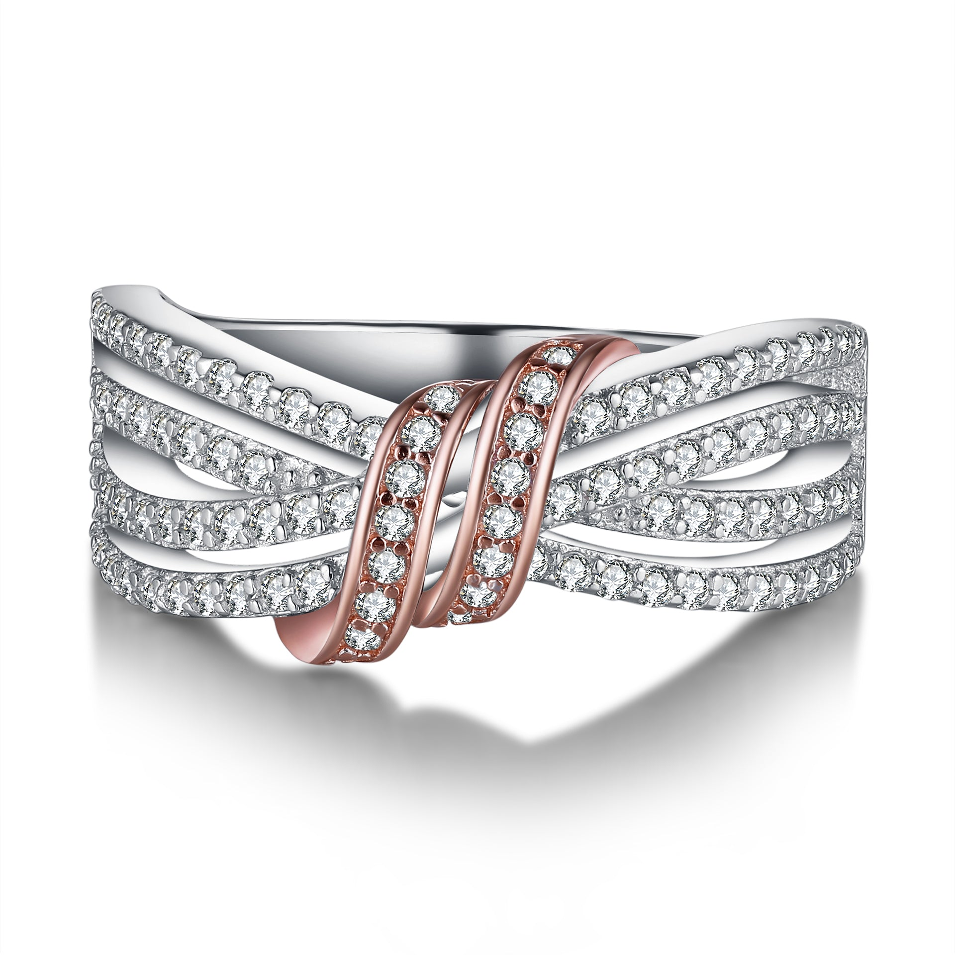 Fashion Simple Wedding Ring Design 925 Sterling Silver Ring for Women
