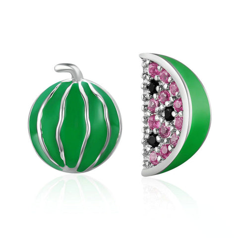 Exquisite Watermelon Fruits Stud Earrings