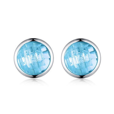 Wild Colorful birthStone Stud Earrings S925 Sterling Silver Fashion Earrings