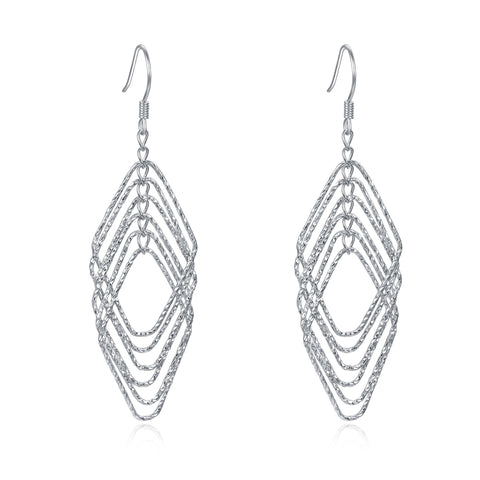 Rhombus Superposition Earrings Multy Layer Geometric Drop Earrings