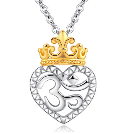Crown OM Pendant Mother Necklace