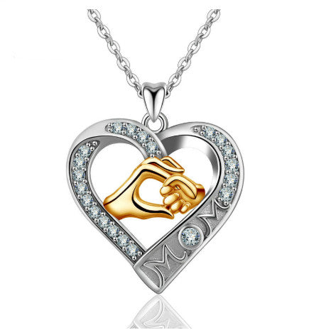 Mother love Crystal CZ Necklace