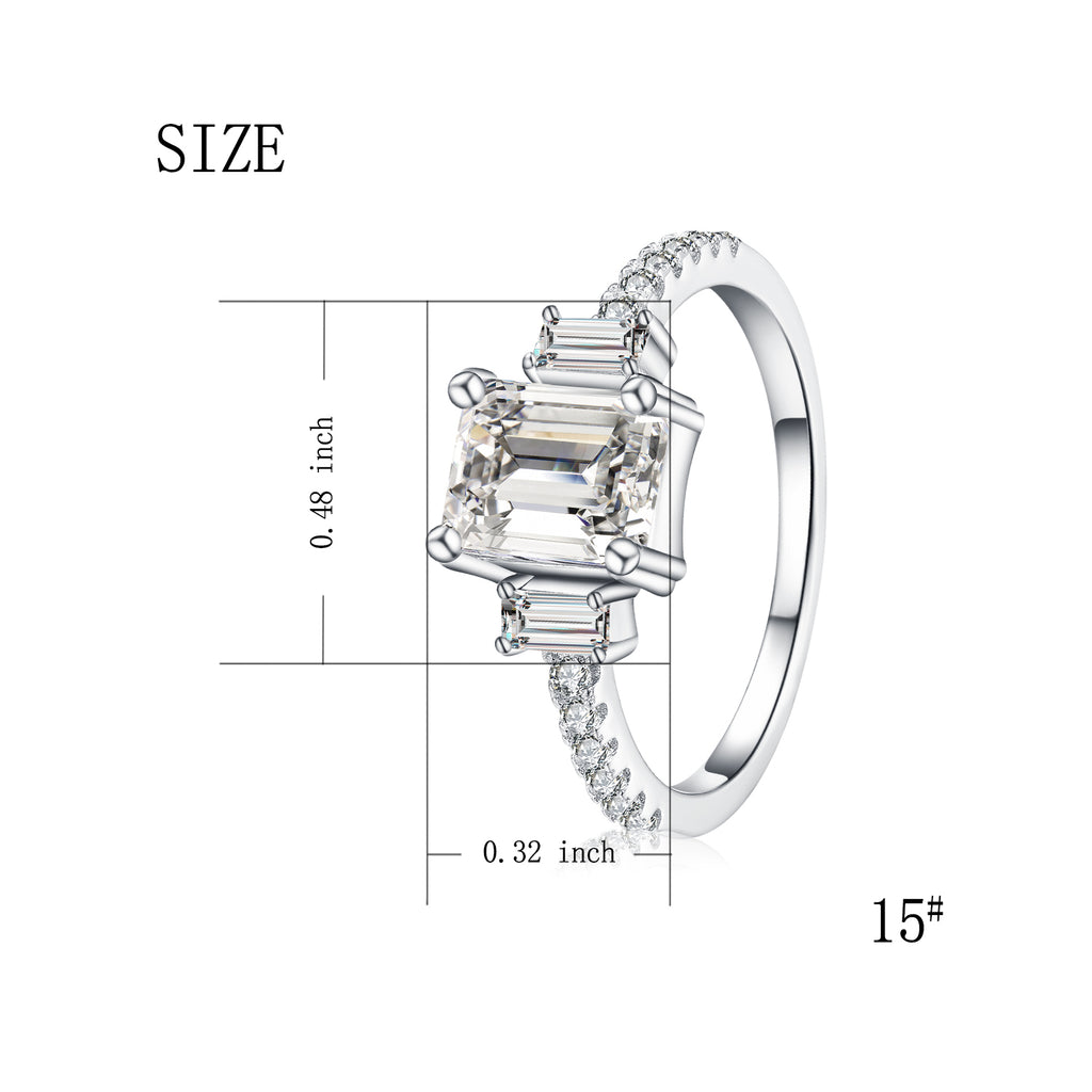 Fashion Wholesale American Rhodium Plated Big Cubic Zircon Ring, Woman Jewelry