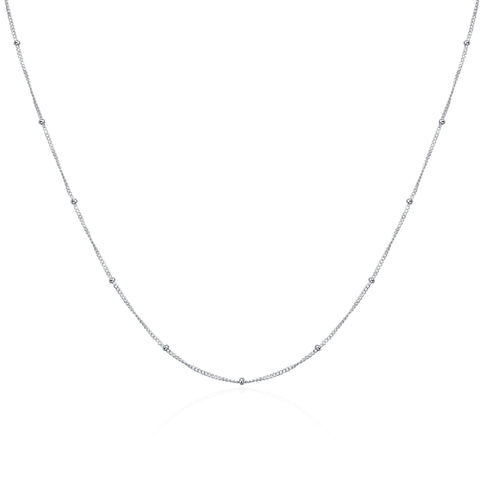 Bead Chain Necklace Custom Fashion Choker Silver Necklace Jewelry
