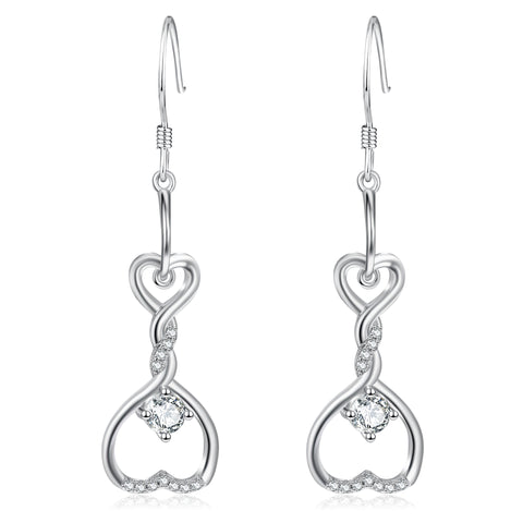 Celtic Knot Swirly Double Open Hearts Pendant Earrings Jewelry Design