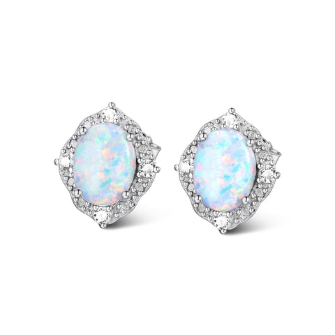 2019 Fashion Gemstone Opal Fringe New Design Jewellery Cubic Zirconia Earrings