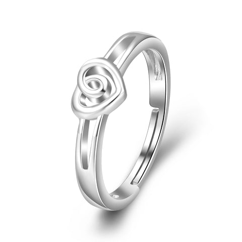 Celtic Knot  heart Adjustable Ring Size Infinity Wedding Engagement Jewelry