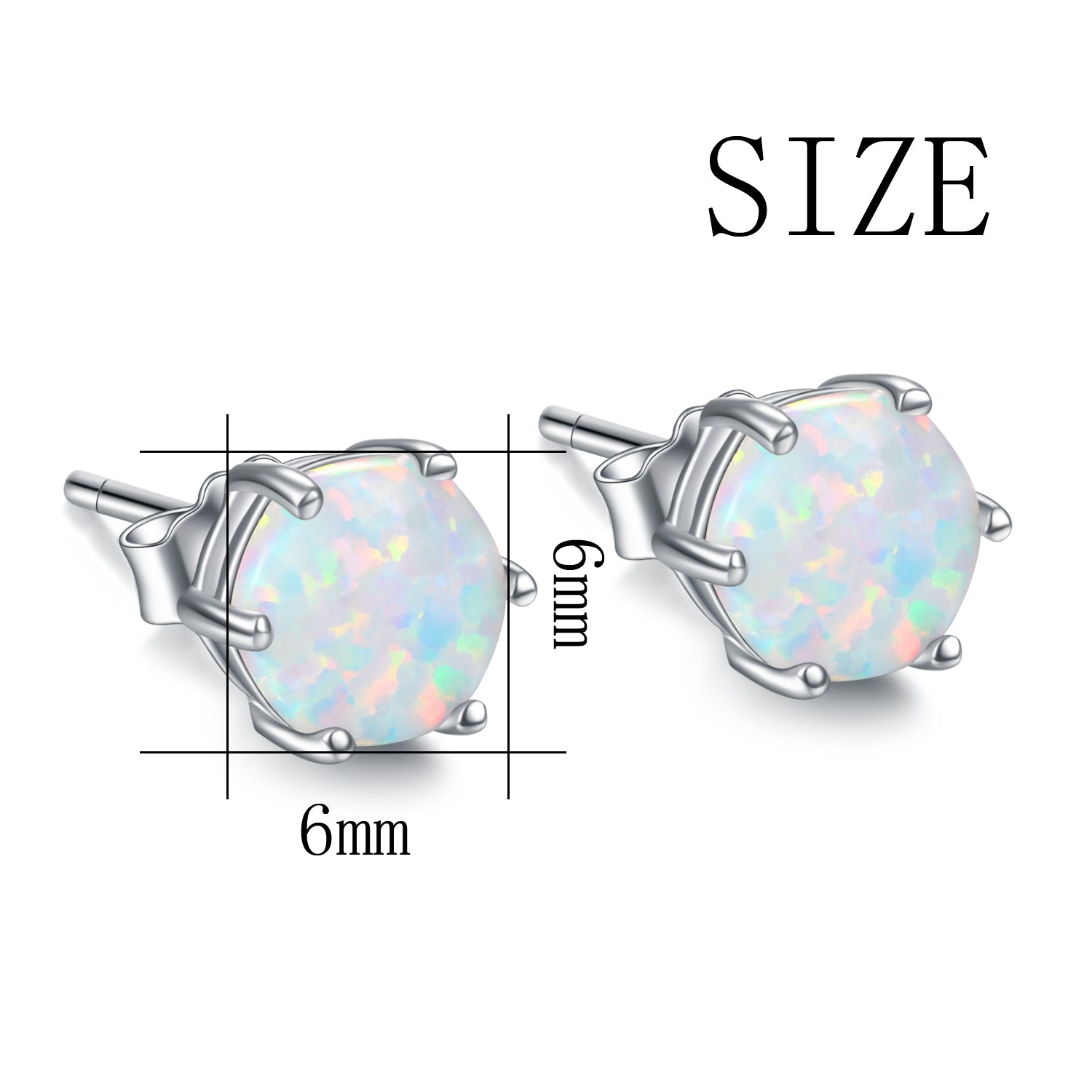 Delicate Women Girls Fashion Opal Gemstone Earrings Silver Jewelry