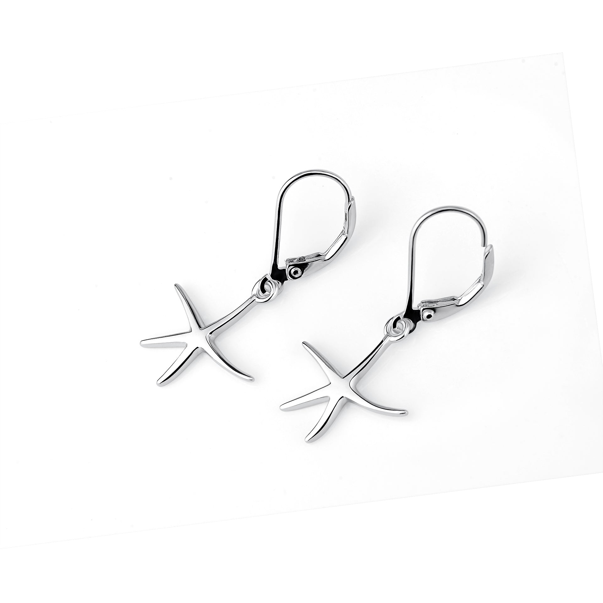 Star Fish Earrings Drop Cute Pendant Five Pointed Star Earrings