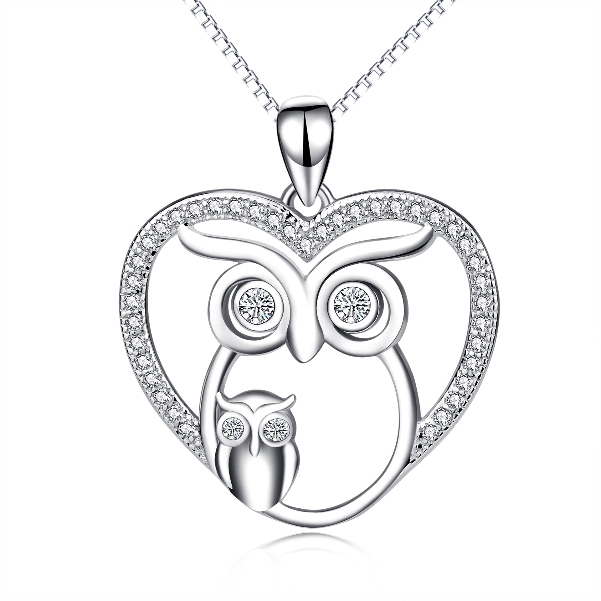 Owl Zirconia Necklace Cubic Silver Wholesale Handmade Necklace