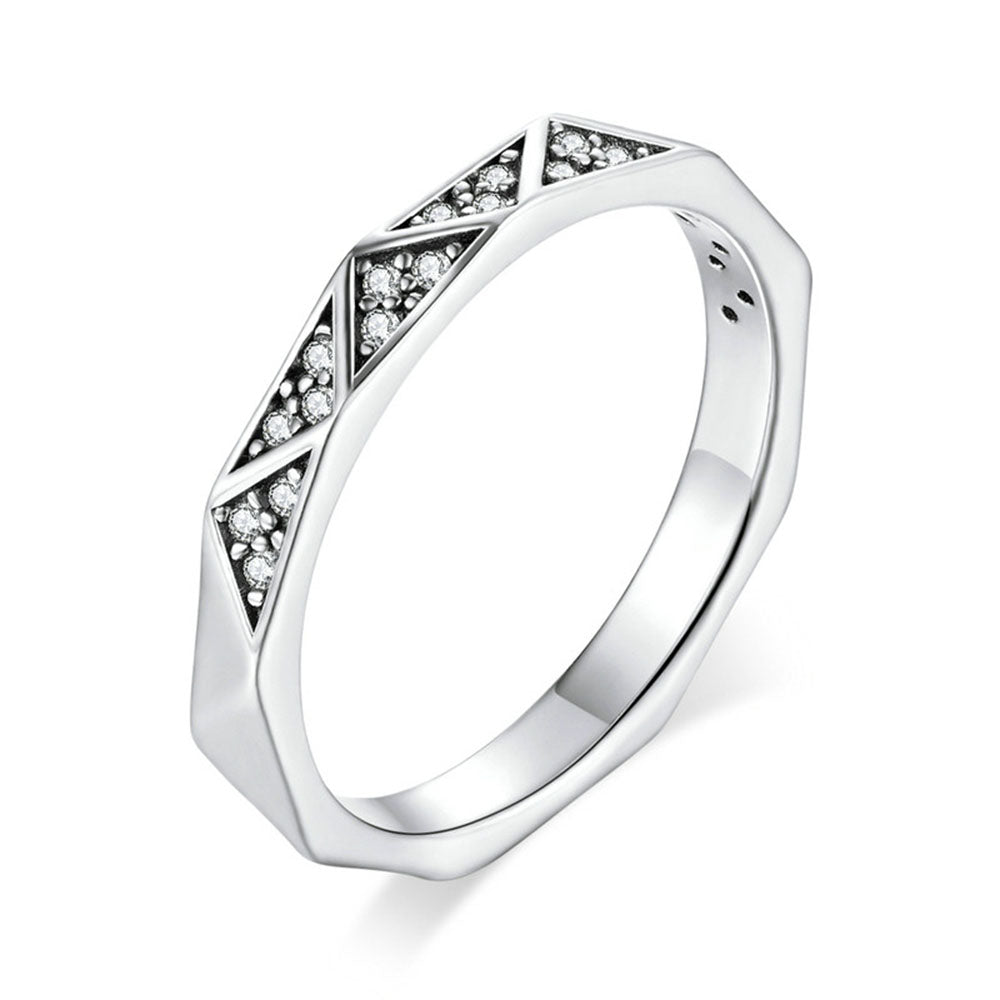 925 Sterling Silver Vintage Finger Rings Fine Jewelry For Women Engagement or Wedding