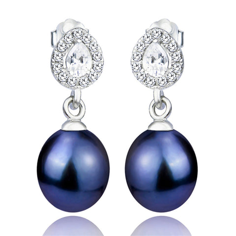 Wholesale Pearl Water Drop Mounting Earrings Design Jewelry