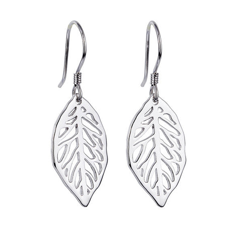 Drop Leaves Spring Earrings Hollow Small Moq Jewelry Design