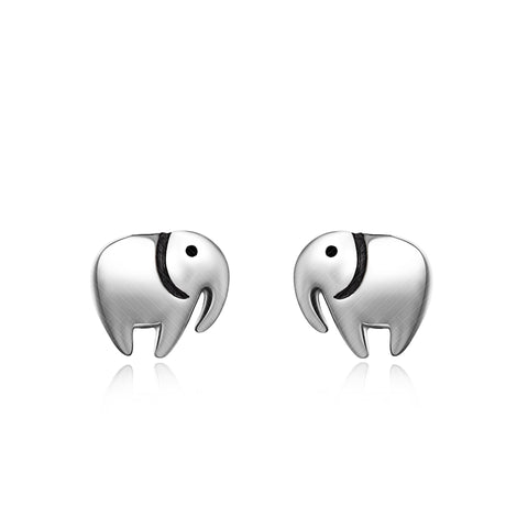 Mini Elephant Earrings Silver Jewelry Women Birthday Party Necklace