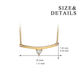 Bar Necklace Choker Cubic Zircon Silver Necklace Wholesale