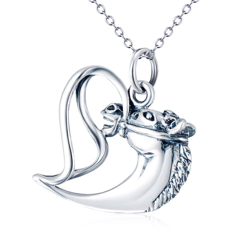 Fine Heart Shaped Necklace Wholesale 925 Sterling Silver Necklace