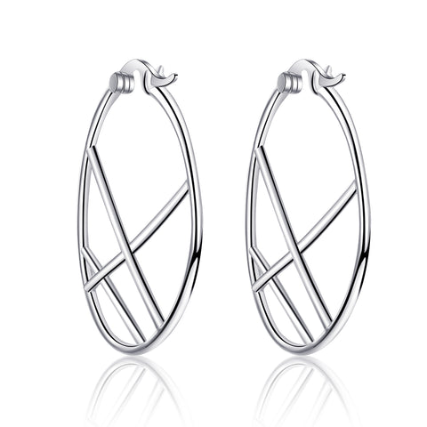 Hoop Round Earrings Circle Geometric Fashionable Women Earrings 2019