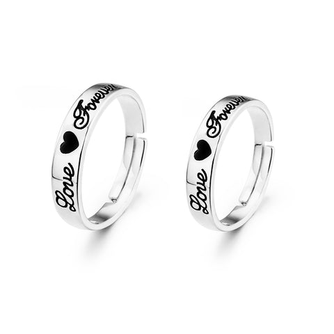 Couple ring love you forever wedding accessory jewelry rings