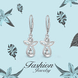 Smart Earrings White Gold Plated Earrings With Angel