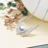 Butterfly Hollow Zirconia Jewelry Best Quality Pearl Necklace Design Silver