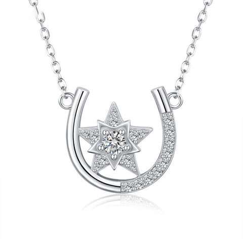 Horseshoe U shape Star Necklace