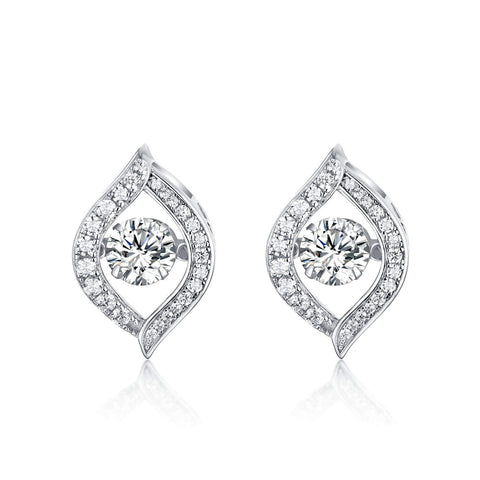 S925 Sterling Silver Creative Micro-Encrusted Diamond Eye Earrings Jewelry Cross-Border Exclusive