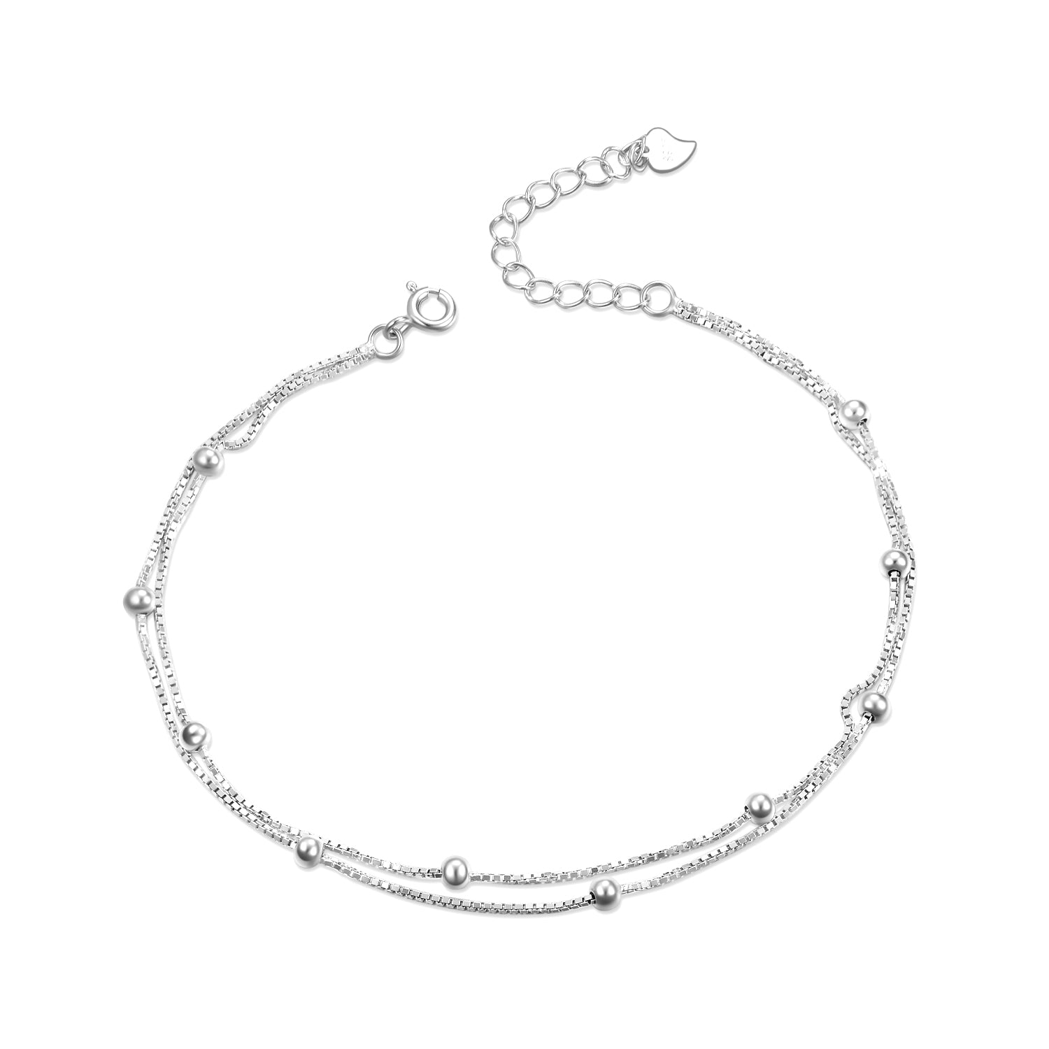 Bead Anklet Summer Jewelry Foot Accessory Silver Anklet Women