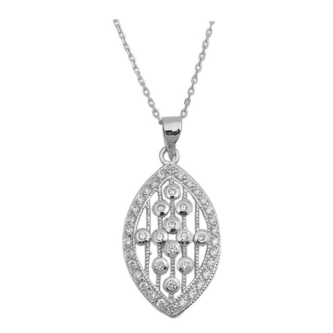 olive shaped cubic zirconia Pendant