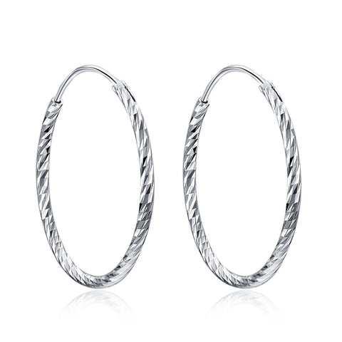 Circle Hoop Geometric Earrings For Romantic Girl Birthday Gift Jewelry